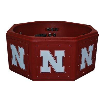 NCAA 6-Person 14-Jet Plug and Play Spa NCAA Team: Nebraska