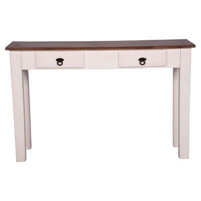 Trower Rustic Console Table Color: Mahogany/White