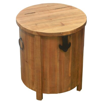 Look Wooden Accent Stool with Storage