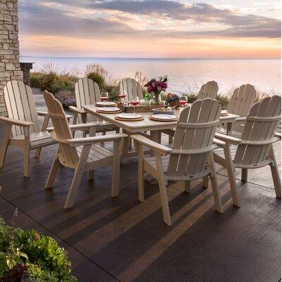 Vineyard Adirondack Nautical Trestle 9 Piece Dining Set Chair Color: Sand, Table Color: Sand