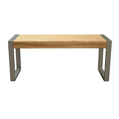 "Hindman Wood Bench Size: 17.7"" H x 42"" W x 14"" D"