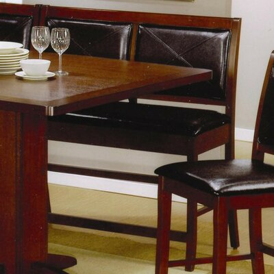Est Counter Height Dining Corner Faux Leather Bench
