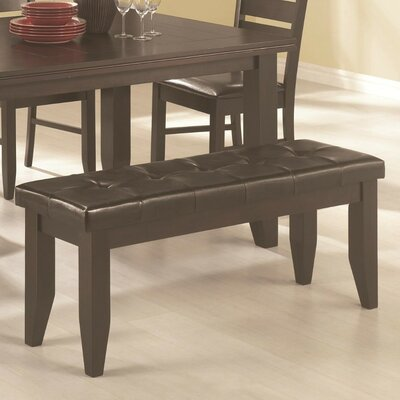 Sirois Comfy Dining Leather Bench