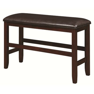 Mengel Transitional Counter Height Leather Bench