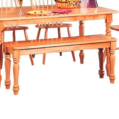 Harms Transitional Dining Wood Bench