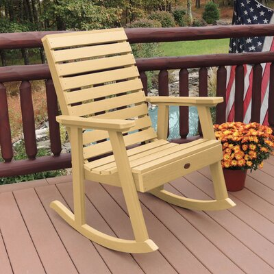 Berry Rocking Chair Color: Sandstone