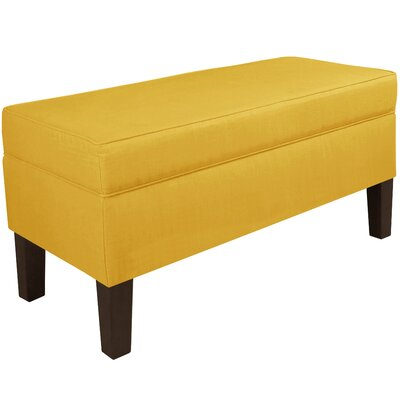 Upholstered Storage Bench Body Fabric: Linen French Yellow