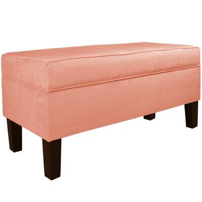 Upholstered Storage Bench Body Fabric: Velvet Papaya