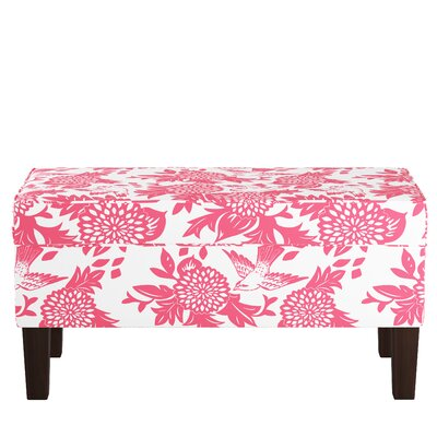 Upholstered Storage Bench Body Fabric: Garden Bird Pink