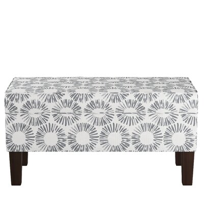 Upholstered Storage Bench Body Fabric: Medallion Light Gray