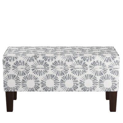 Upholstered Storage Bench Body Fabric: Medallion Light Gray