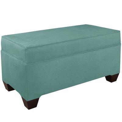 Upholstered Storage Bench Body Fabric: Velvet Caribbean