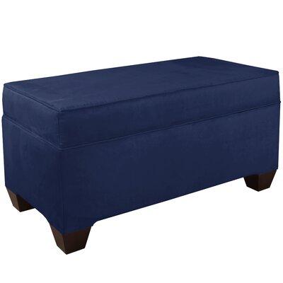 Upholstered Storage Bench Body Fabric: Velvet Navy