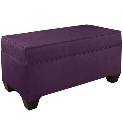 Upholstered Storage Bench Body Fabric: Velvet Aubergine