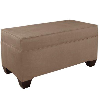 Upholstered Storage Bench Body Fabric: Velvet Cocoa