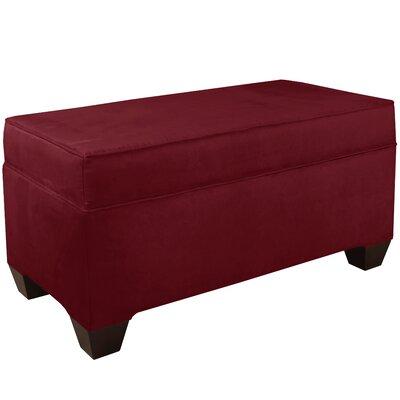 Upholstered Storage Bench Body Fabric: Velvet Berry