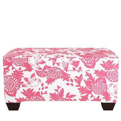 Upholstered Storage Bench Body Fabric: Garden Bird Pink