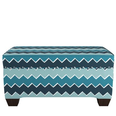 Upholstered Storage Bench Body Fabric: Brush Chevron Teal