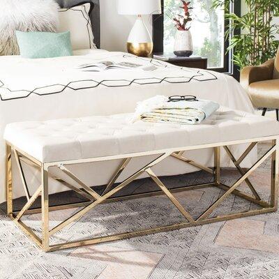 Kingery Upholstered Bench Upholstery: Beige