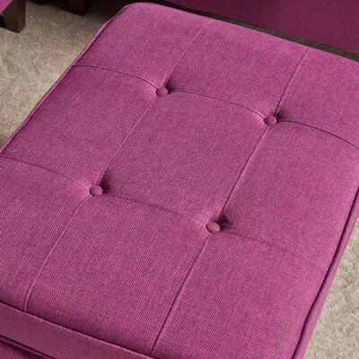 Vanhorn Modular Sectional with Ottoman Upholstery: Purple