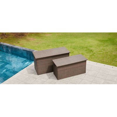 "Wicker Deck Box Size: 29.92"" H x 59.45"" W x 28.74"" D"