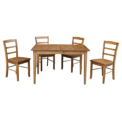Kellar Butterfly Leaf Extension 5 Piece Dining Set