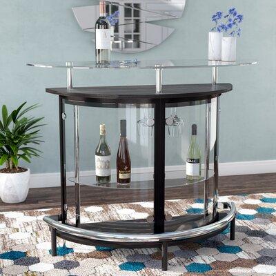 Fairborn Bar with Wine Storage Color: Black