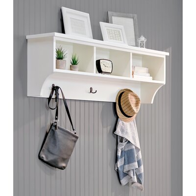 Brookwood Wall Mounted Coat Rack Color: White