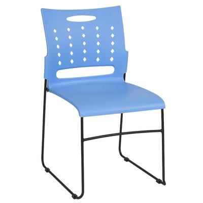 Pyron Sled Base Stacking Chair Seat Finish: Blue