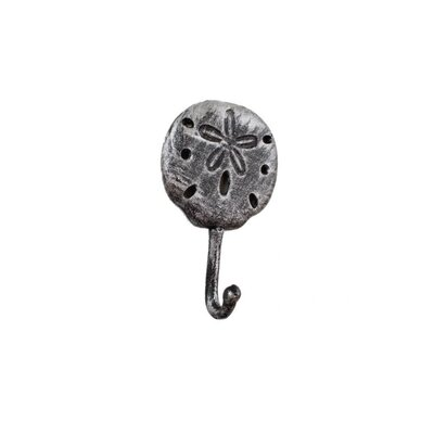 Denys Iron Sand Dollar Wall Hook Color: Silver
