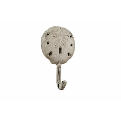 Denys Iron Sand Dollar Wall Hook Color: Beige