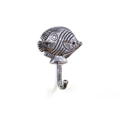 Dereck Iron Butterfly Fish Wall Hook Color: Silver