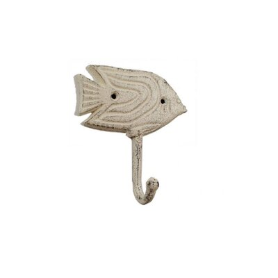Derell Iron Angel Fish Wall Hook Color: Beige