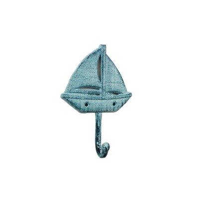 Wethington Iron Sailboat Wall Hook Color: Blue