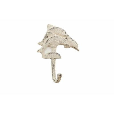 Skipworth Cast Iron Decorative Dolphins Wall Hook Color: Ivory