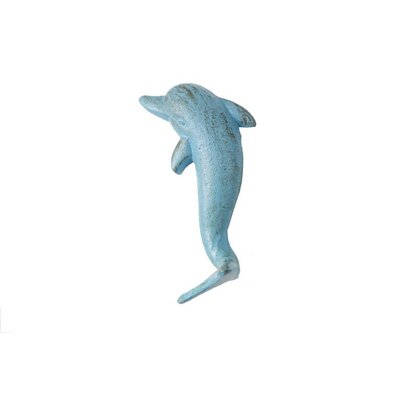Slye Cast Iron Dolphin Wall Hook Color: Light Blue