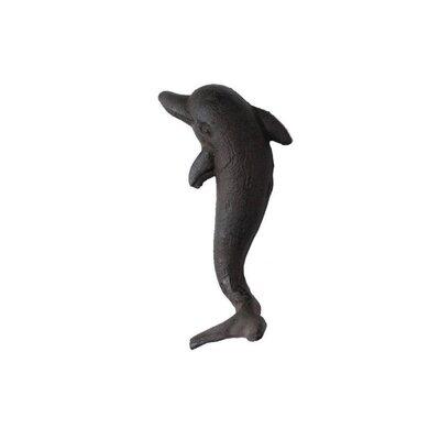 Slye Cast Iron Dolphin Wall Hook Color: Black