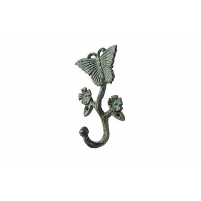 Brondon Cast Iron Butterfly Wall Hook Color: Bronze