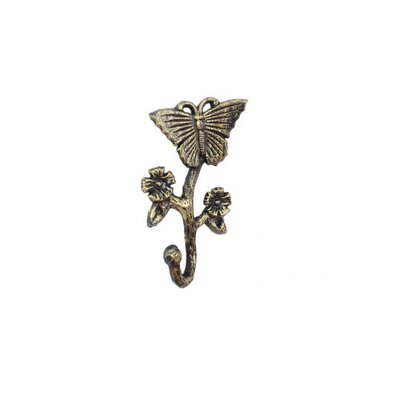 Brondon Cast Iron Butterfly Wall Hook Color: Gold
