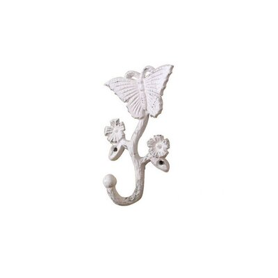 Brondon Cast Iron Butterfly Wall Hook Color: Ivory
