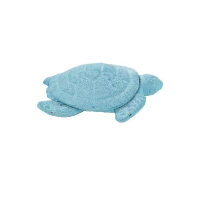 Sklar Cast Iron Decorative Turtle Paperweight Color: Turquoise