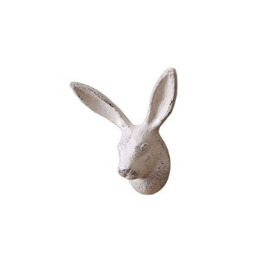 Pena-Urena Cast Iron Decorative Rabbit Wall Hook Color: Ivory