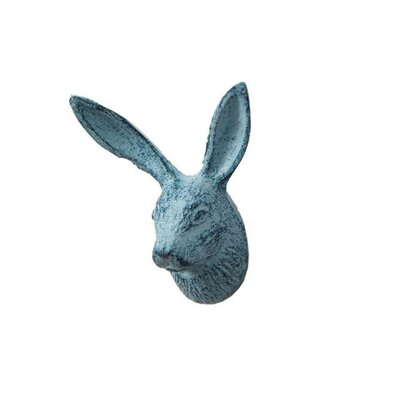 Pena-Urena Cast Iron Decorative Rabbit Wall Hook Color: Turquoise