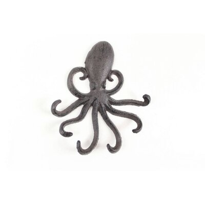 Whitlatch Cast Iron Decorative Octopus Wall Hook Color: Gray