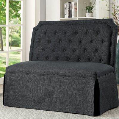 Sickmeier Wood Bench Upholstery: Gray