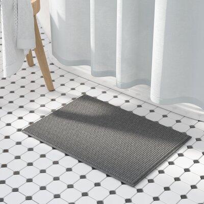 "Kiesel Plush Memory Foam Chenille Cushioned Bath Mat Color: Light Grey, Size: 17"" x 24"""