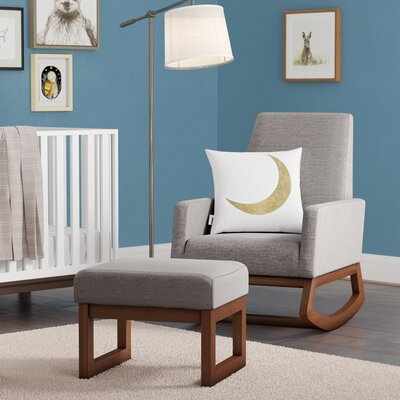 Nola Rocking Chair Upholstery: Gray