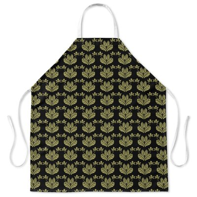 French Flowers Apron Color: Black