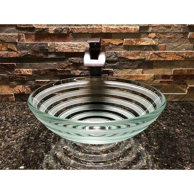 Primo Glass Circular Vessel Bathroom Sink