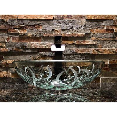 Adria Glass Circular Vessel Bathroom Sink